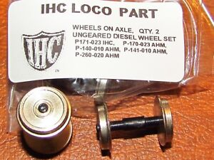 2 UNGEARED DIESEL WHEEL SETS BY IHC AND AHM VARIOUS PART NUMBERS  NEW HO SCALE