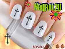 "RTG Set#531 IMAGE ""Tribal Cross"" WaterSlide Decals Nail Art Transfers Salon Nail"
