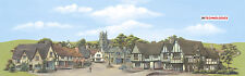"""PECO SK-16 Large Town Provincial Scenic Background 228mm x 737mm (9""""x29"""") T48Pos"""