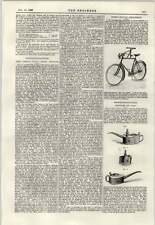 Accesorio De Bicicleta 1897 Brigg mejorado aceite era victoriana de construcción naval Thames