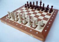 Schach; Turnier - Schachspiel Staunton Nr. 4A, 42 x 42 cm KH 80 mm Holz