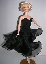 """Barbie Marilyn Monroe Ooak """"Afternoon Soiree"""" Stunning Ruffled Tulle Dress"""