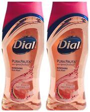 2X Dial Pura Fruta Guava & Watermelon Scented Refreshing Body Wash 12 oz RETIRED