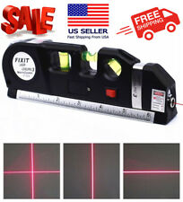 Multipurpose Laser Level Vertical Horizon Measuring Tape Aligner Metric Rulers