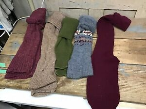 5 Pair Vintage Women's Leg Warmers 1980's Acrylic Blend? Used