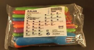 IKEA Kalas 18pc Plastic Flatware Set for Kids - Assorted Bright Colors, smooth