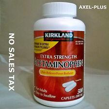 Kirkland Extra Strength Acetaminophen 500mg 500 Caplets
