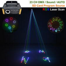Mini DMX RGB SD Animation Laser Light Projector Show DJ Party Stage Lighting