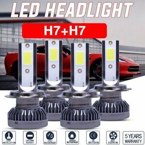 4x H7 LED Headlight Bulb 6500K Conversion Kit 32000LM White Car Light High Power