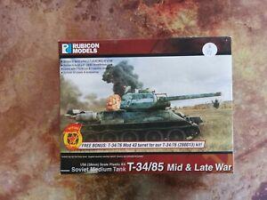 T-34 / 85 Soviet Medium Tank - 1/56th 28mm - Rubicon