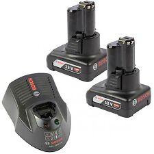 Bosch GBA Ersatzakku 12V 4.0 Ah 2 St. + Schnellladegerät GAL 1230 CV