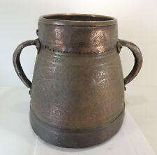 Art islamique: Pot ancien, XVII ème, chaudron marmite, cuivre
