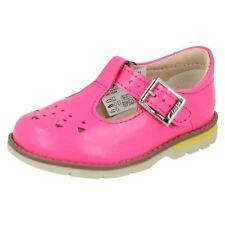 Scarpe rosa in pelle con fibbia per bambine dai 2 ai 16 anni