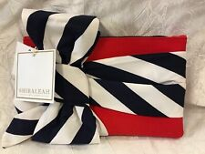 Shiraleah Red White Blue striped bow patriotic nautical zip Clutch Purse Bag NEW