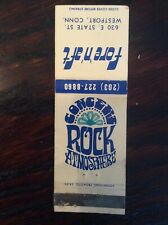 Vintage Fore n Aft Westport CT Matchcover ~ Rock Club Psychedelic Graphics 1970s