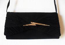 Vintage Sidonie Larizzi Black PURSE Clutch, Shoulder Bag w/ Rhinestones on Flash