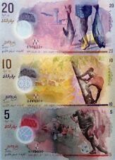 MALDIVES NEW 5 10 20 Rufiyaa SUPER COLOURFUL UNCIRCULATED POLYMER BANKNOTES