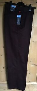 Brand New Men's Marks & Spencer Blue Harbour Plum Chino Trousers Sizes 36S - 44S