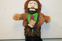 """Flambro Collectibles Emmett Kelly Jr 20"""" Clown Doll  with tag Vintage stuffed"""