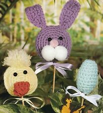 QUICK & EASY Easter Plant Pokes/Decor/Crochet Pattern INSTRUCTIONS ONLY