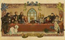 POSTER IL TRONO DI SPADE GAME OF THRONES L'ULTIMA CENA THE LAST SUPPER STARK #79