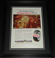 1959 Goodyear Tires Turnpike Proved Framed ORIGINAL Vintage Advertisement B