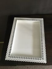 White Metal High Quality Tray 26 * 36 Cm For Wedding, Birthdays, Events