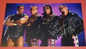 BRET HART & JIM NEIDHART signed poster , wwe, wcw, aew, NXT, njpw