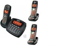 Uniden 2 Line Cordless Intercom Paging Dual Conference Phone System w 3 Handsets