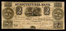 $2 1835 Agricultural Bank Toronto 20-10-08 Canada Ten shillings beaver