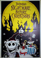 Original Movie Poster 100x140 Nightmare Before Christmas - Tim Burtons