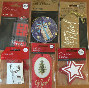 Clinton's Christmas Seasonal Present Gift Tag Bundle - 35 Tags In Total (d)