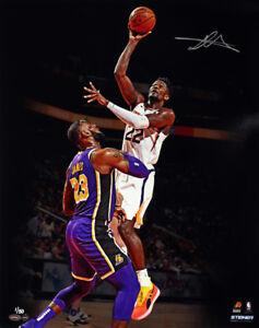 """DEANDRE AYTON Autographed Suns """"Over LeBron"""" 16"""" x 20"""" Photograph STEINER LE 50"""