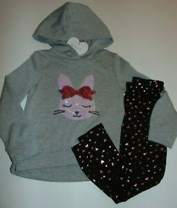 ~NWT Girls BTWEEN Bunny & Hearts Hoodie Outfit! Size 6 Super Cute:)!