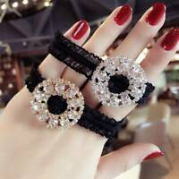 Flower Crystal Crycle Hair Accessories Elastic Hair Bands Rubber Band Hair Ring