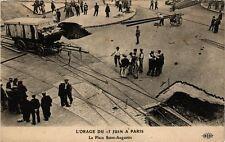CPA L'ORAGE DU 15 JUIN a PARIS (8e) La Place St-Augustin (199859)