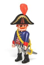 Playmobil Figure Custom Chubby Pirate Ship Captain w/ Hat Sword 3940 3286