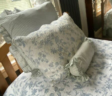 """Country Curtains Standard Quilted Pillow Sham """"Williamsburg"""" Blue White Toile"""