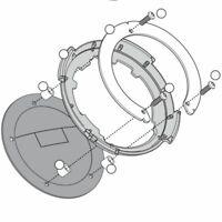 KAPPA BF05K FLANGIA PER BORSE TANKLOCK YAMAHA 1000 YZF R1 (RN121) 2009-2012