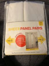 Pair Of Sheer Panels, 59 X 72 Each Brand New