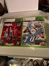 NBA2K13 & Madden NFL 13 Xbox 360 Game Bundle