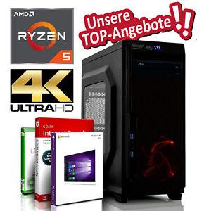 GAMING Komplett PC AMD Ryzen 5 2400G 16GB 512GB SSD 4000GB Radeon Vega11 System