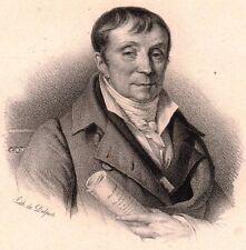 Portrait François Andrieux Strasbourg Alsace Avocat Poésie Lithographie 1833