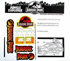 Replacement stickers for Kenner JURASSIC PARK Jungle Explorer pre-cut!!!