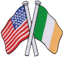 Ireland Irish American USA Friendship Flag Embroidered Patch Badge