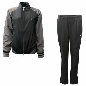 Nike Sporting Excellence Womens Polyester Regular Fit Tracksuit Black CC27
