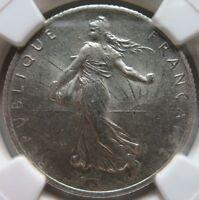 FRANCE 2 francs 1919 NGC MS 62 UNC Superb Luster