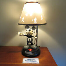 """RARE Mickey Mouse ANIMATED TALKING LAMP Vintage Disney 15"""" With Shade, Working"""