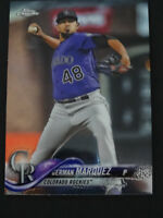 2018 Topps Chrome #80 German Marquez Colorado Rockies Prism Refractor Card