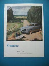 PUBLICITE DE PRESSE FORD COMETE AUTOMOBILE FRENCH AD 1965